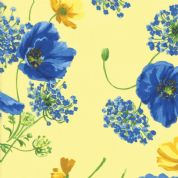 Moda - Summer Breeze 2019 - 7069 - Poppies Agapanthus on Yellow - 33440 13 - Cotton Fabric
